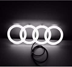 Jianzhucail Cool LED Emblem Logo Grid LED Badge Front Light, Front Car Grill Badge, Auto Illuminated Logo, Glowing Rings for Audi A3 S3 RS3 A4 A5 A6(273 x 93 mm White)