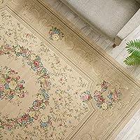 サヤンサヤン 花柄 ラグ 絨毯 アルダ 240x330 6畳 マスターゴールド ベージュ ゴブラン織
