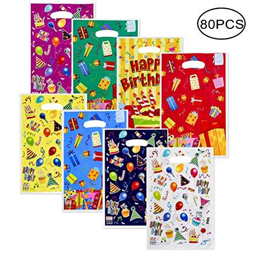 kuou 80 Piezas Bolsas de plástico para Fiestas, Bolsas de