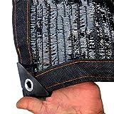 Plane Gartennetz Sunblock Shade Cloth mit Ösen 70% UV Black für Plant Cover Greenhouse Barn Kennel...
