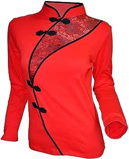 Amazing Grace Elephant Co. Chinese Sexy Cotton Long Sleeve Modern Cheongsam Qipao Dress Top