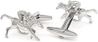 Silver Plated Horse Racing Sport Cufflinks
