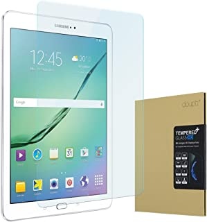 doupi Protector de Pantalla Compatible con Samsung Galaxy Tab S2 9.7 Pulgadas, 3D 9H HD Duro Vidrio Templado, Transparente