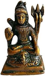 KVR Brass Hindu Indian God Idol Lord Shiva Shankar Bum Bum Bhole Shiv Linga Statue for Hindu puja (Shiva-2)