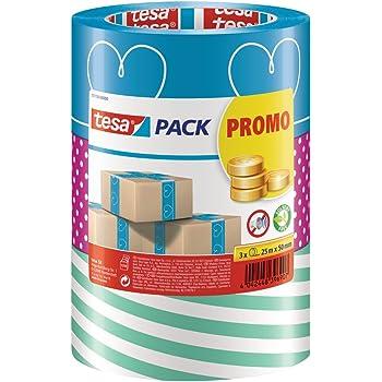 Breite 5 cm x L/änge 66 m leise abrollendes Paketband mit Acrylatkleber farbiges Klebeband aus Polypropylen gelb Modulor Verpackungsband 48 /µm dick
