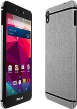 Skinomi TechSkin - BLU Grand M2 Screen Protector + Brushed Aluminum Full Body Skin/Front & Back Wrap Clear Film/Ultra HD and Anti-Bubble Shield