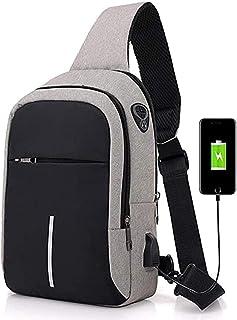 Segeltuch Brusttasche Sling Schultertasche Leichte Verstellbare Crossbody Tasche Wandern Radfahren Camping Reisen Sling Rucksack für Herren
