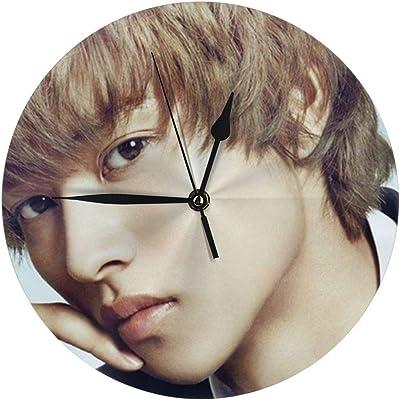 山?賢人 壁掛け時計 おしゃれ 連続秒針 置き時計 見やすい 静音 サイレント 電池式 シンプル モダン 和風 和柄 ウォールクロック 置掛両用 人気 掛け時計