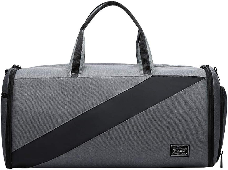 Hoomysyer Groe, hochwertige Sporttasche Sporttasche Sporttasche Dry Wet Separated Travel über Nacht Wochenende für Mann und Frau grau