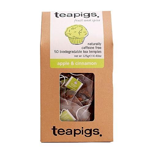teapigs Apple and Cinnamon Tea Temples, 50-Count