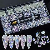 8620Pcs Mixed Crystal Nail Art Rhinestones Diamonds 14 Style Nail Crystal Flatback Multi Sizes 3D Decorations Rhinestone with Picking Pen(700 Pcs Crystals+7920 Pcs Rhinestones,Starry Sky)