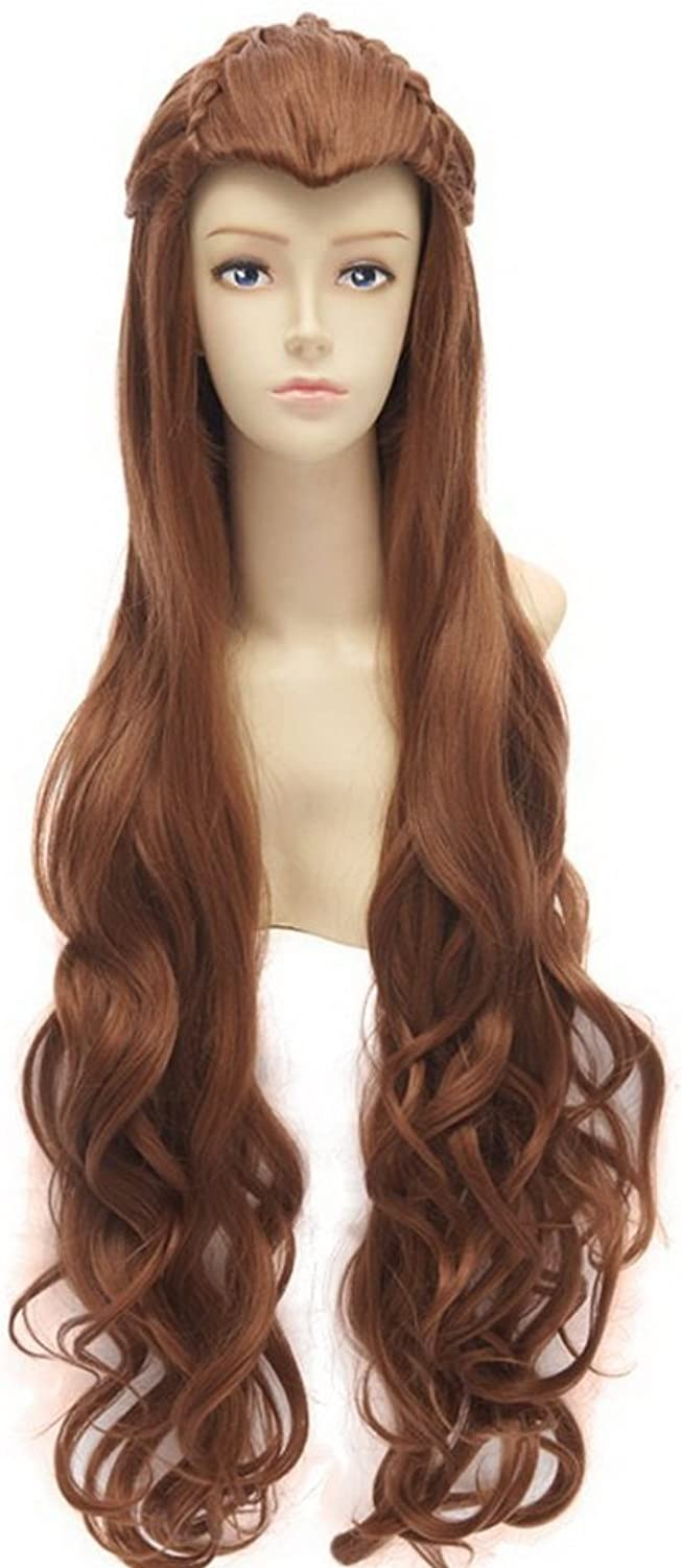 The Hobbit   The Lord of the Rings Elf Tauriel Cosplay Wig golden Brown Hair by Kewlcos