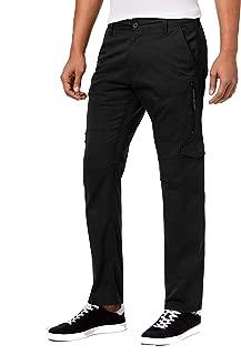 Men's Cotton Stretch Casual Cargo Flight Pants PM Black 36