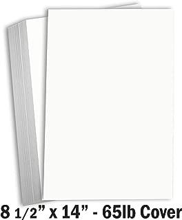 Hamilco White Legal Cardstock Paper 8 1/2