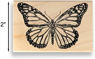 Monarch Butterfly Rubber Stamp – Large – 2 inches (50mm) Tall. - Select from Several Sizes – Some can be Customized with Text