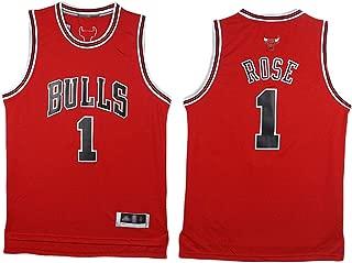 Los Hombres De Baloncesto Jersey Derrick Rose # 2 Fanáticos De Los Bulls Sin Mangas del Oscilación Clásico Tapas De Las Mujeres Bordadas,Rojo,L175~180cm/75~85KG