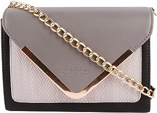 GM CREATIONS™ Leatherette Latest Cross-body Trendy Branded Shoulder Sling bag Side Handbag With Non Detachable Golden Styl...