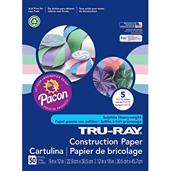 PK Pacon Tru-Ray Construction Paper PAC10 9 x 12 50 Sheets//Pack Turquoise