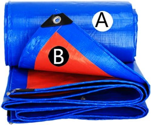 MDBLYJAuvent Pare Soleil et Tissu Froid épaissir la bache extérieure bache imperméable à l'eau de bache de Prougeection de Voiture de bache de Prougeection Solaire Anti-vieillissement, Bleu + Orange