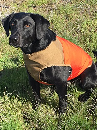 CUGA Vest Serious Protection for The Active Dog (SML, Orange/Coyote)