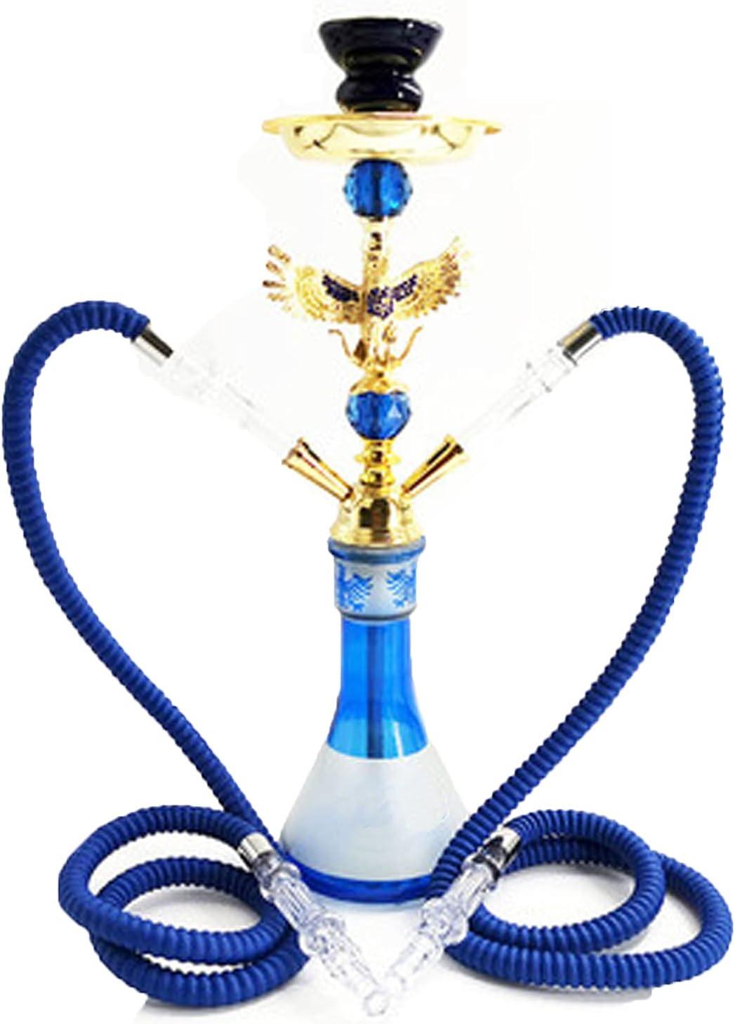 Juego de Nariz de acrílico Conjunto de narguile acrílico, Conjunto de Tubos de Cigarrillo de Agua Khalil Mamoon Bar Double Arabic Smoke Forma águila águila Hookah pa