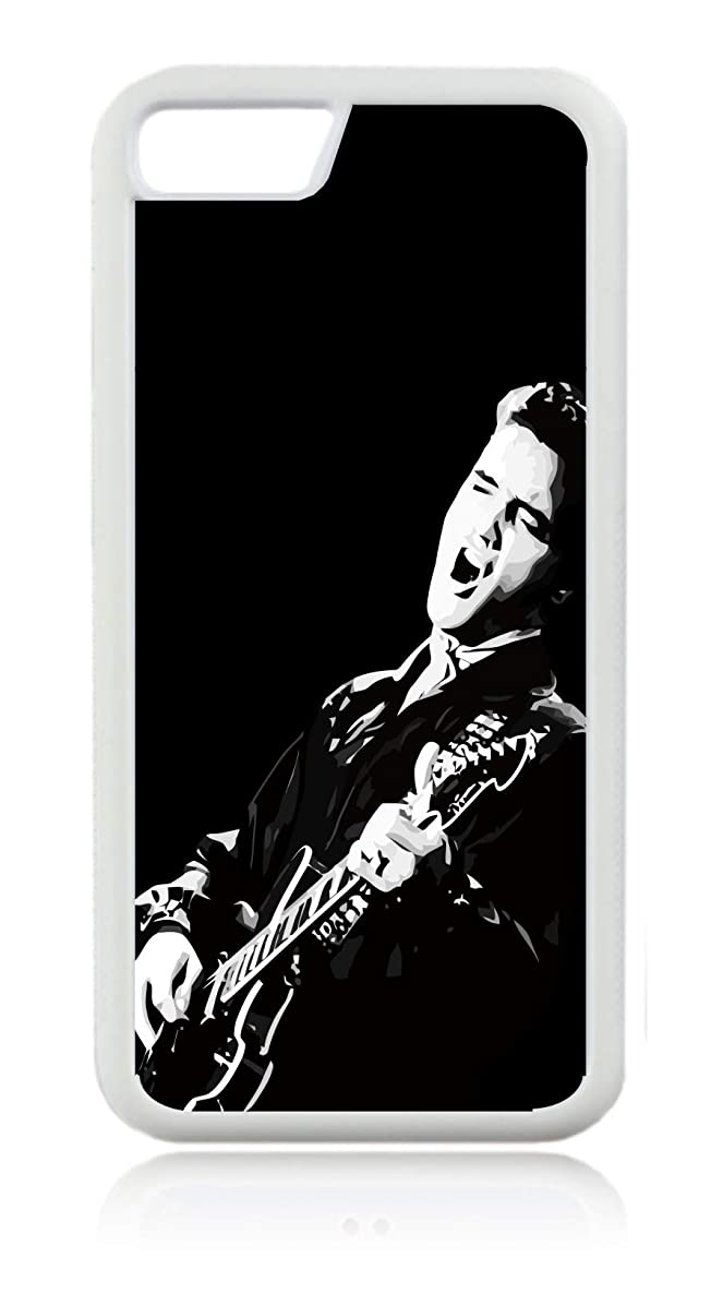 Elvis Presley Rocking on a Guitar White Rubber Case for The Apple iPhone 7 / iPhone 8 - iPhone 7 Accessories - iPhone 8 Accessories