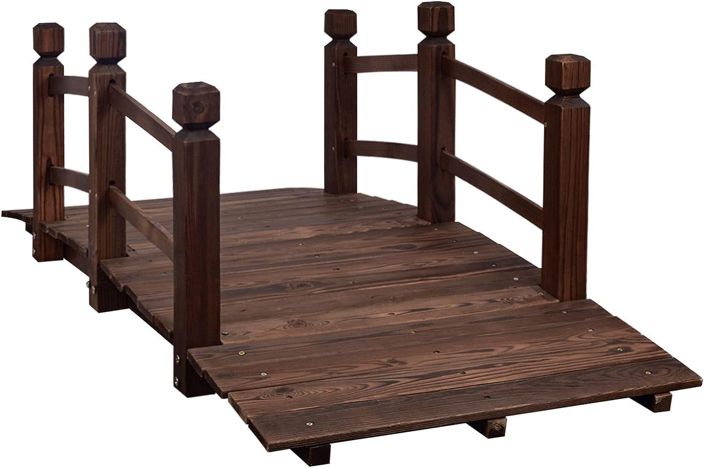 MAXXPRIME Wooden Max 48% OFF Bridge 5 ft Outside Garden for Small Brand Cheap Sale Venue Ar