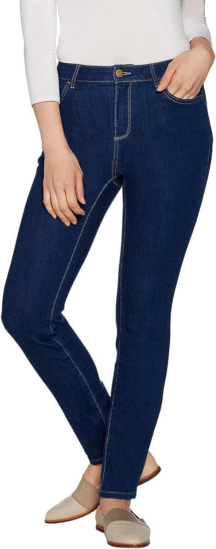 LOGO by LORI GOLDSTEIN Womens Plus Stretch Skinny Jeans 18 Medium Indigo A297094