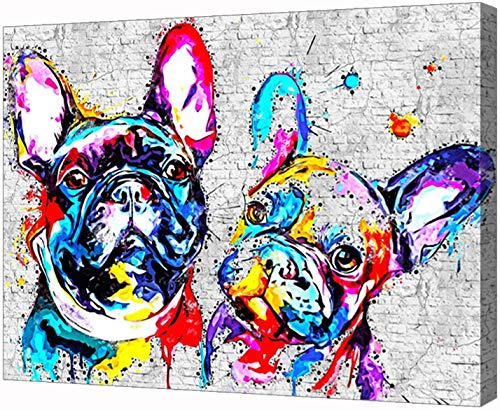 French Bulldog Poster Overlord Albedo Canvas Modern Wall Art Picture for Living Room Home Decor (No Frame,8x12 inch)