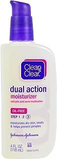 Clean & Clear, Dual Action Moisturizer, Salicylic Acid Acne Medication, 4 fl oz (118 ml) - 2PC