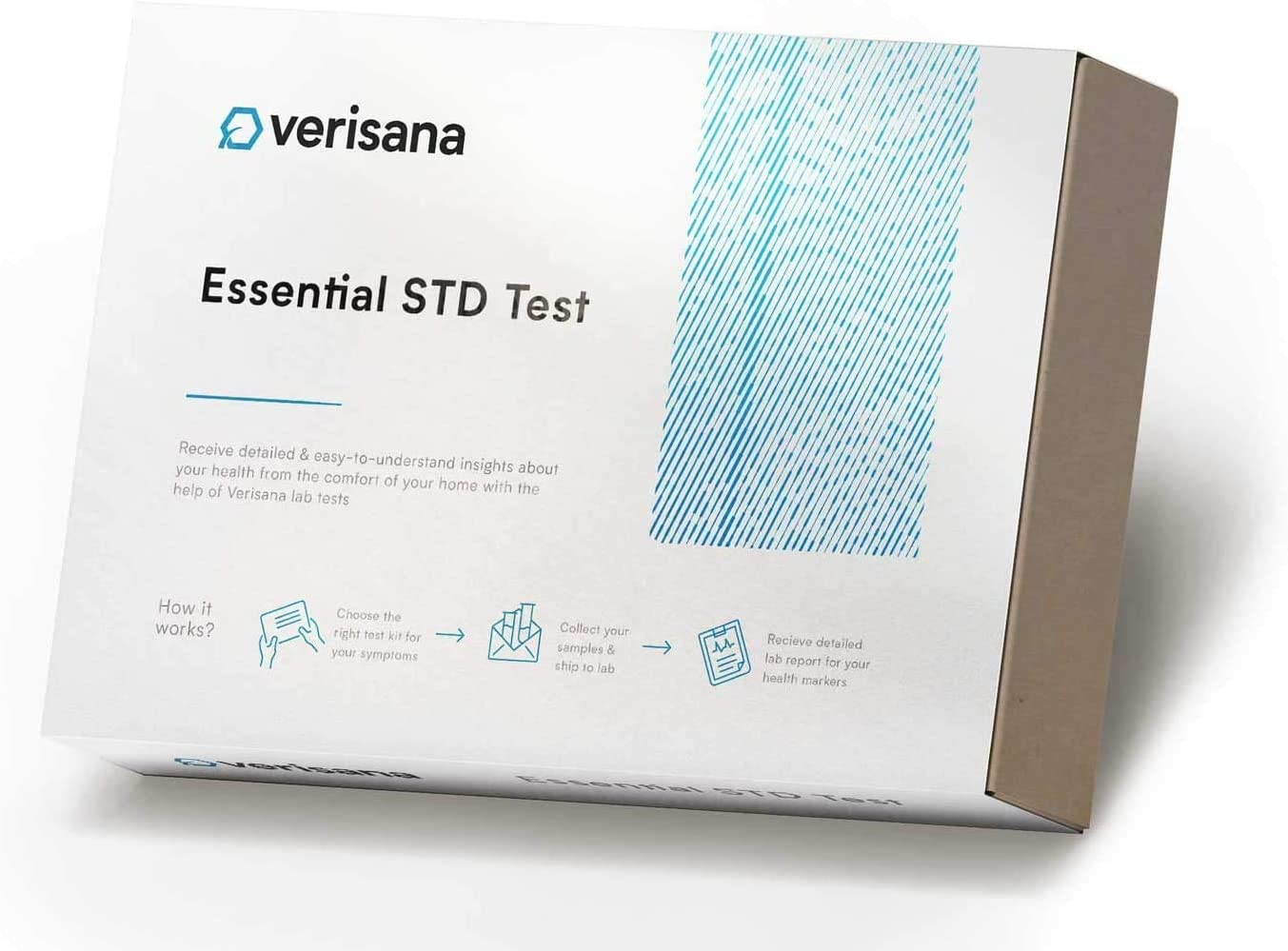 Home STD Testing Kit for Men & Women – Blood and Urine Analysis for 6 Common STDs – Verisana