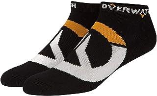 Overwatch- Set de 3 Pares de Calcetines Negros Logo símbolo Icono Blanco-Black, Color, Talla única (Jinx Inc. JX6197B)