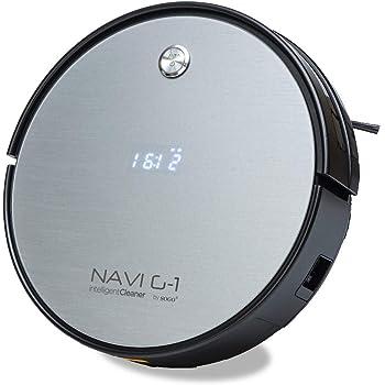 SOGO SS-16075 Robot Aspirador NAVI G-1 | Barre Aspira y Friega | Limpieza Automática | Potente y Silencioso | Para Alfombras, Mascotas, Suelos Duros | Filtro Fácil de Limpiar - Color: Gris: Amazon.es: Hogar