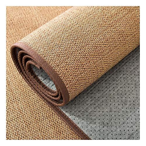 JIAJUAN Rechteck Japanisch Traditionell Naturfaser Bambus Geflochten Teppich rutschfest Kühlung zum Sommer- Wohnzimmer Teehaus Draussen (Farbe : B, größe : 50x150cm)