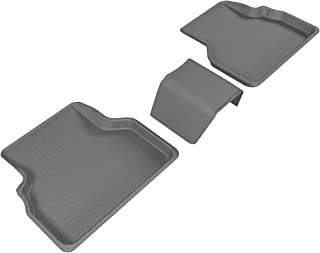3D MAXpider Second Row Custom Fit All-Weather Floor Mat for Select Audi Q3 Models - Kagu Rubber (Gray)