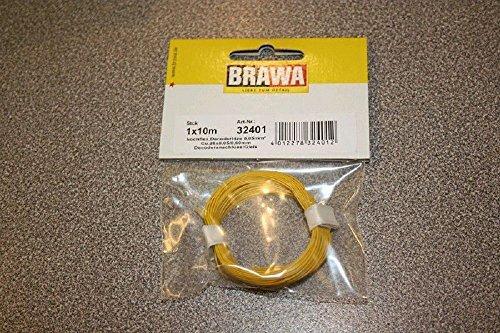 BRAWA 32401 Decoderlitze gelb 10m