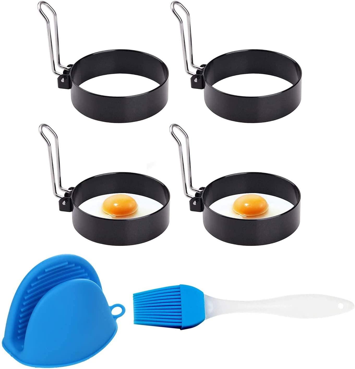 Seasonal Wrap Introduction Egg Ring Genuine Free Shipping 4 Pack Round Breakfast Household Mold Ro Tools Cooking
