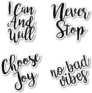 Choose Joy Inspirational Sticker Pack Inspirational Stickers - 4 Pack - Sticker Vinyl Decal - Laptop, Phone, Tablet Vinyl Decal Sticker (4 Pack) S172438