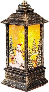 Outdoor Hanging Lantern for Home//Party//Christmas Strnek Christmas Party Decoration Elk LED Lantern Vintage Style Decorative Lantern Candlestick Lantern Light Battery Powered
