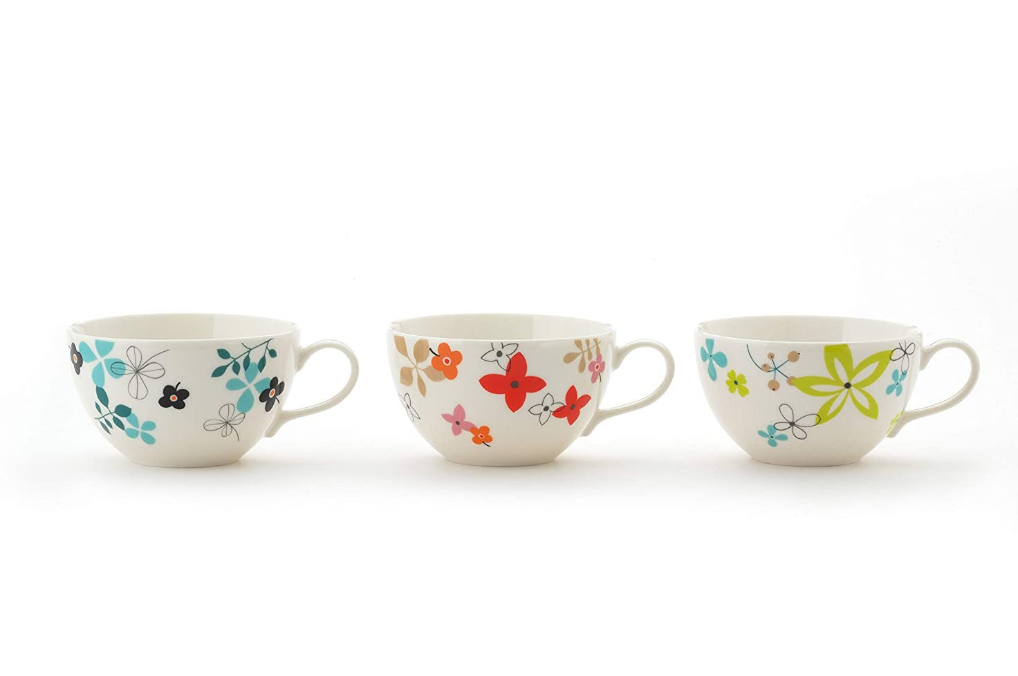 あいさつ安定アルカトラズ島東秀陶器 カップ_ソーサー 3柄 約340ml 北欧スタイル スープカップ(3柄組) 3個入 3個セット