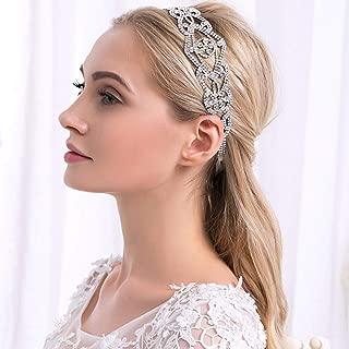Unicra Wedding Headpiece Bridal Headband Silver Crystal Headdress Fashion Hair Accessories for Brides and Bridesmaids