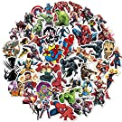 Superhero Avengers Stickers for Teens,vinly Legends Stickers with Party Favors for Kids,Graffiti Waterproof Decals for Hydro flasks Water Bottles Bikes Luggage Skateboard Bumper(104pcs Random)
