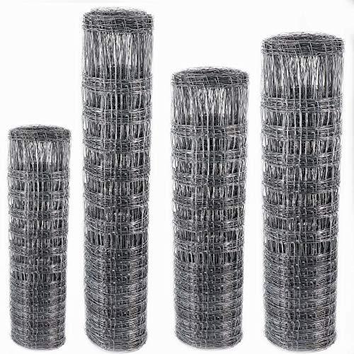 Wild Clôture Clôture pour grillage forestière Noeud tressé 120 cm/125/130 cm & 200 cm de haut 4 différents types de clôture, 200/22/15