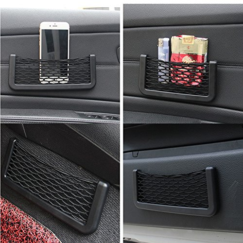 SZSS-CAR 2 Pieces Car Net String Box Pocket Organizer Bags 150X80MM Baskets Mobile Phone Holder Seat Side Back Storage Network Shelf Nets Auto Mesh Nets