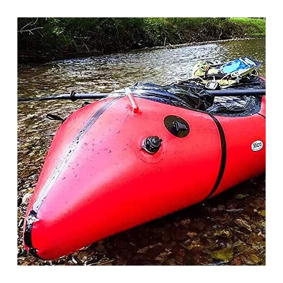 JNWEIYU Inflatable Kayak,Standard Single Boat Without Pulp, Can Be Used for White Water Level 3 Adventure Rafting… 3 LARGE LOAD: This kayak can bear 150 kg weight, enough for 1 persons operate, enough space and convenient to use. Made of high quality thicken PVC material which has 0.3mm thickness, can resist tear, high strength, not easy to be damage. INFLATABLE DESIGN: The inflatable design make it convenient to store when not use, double valve help to finish inflating quickly.