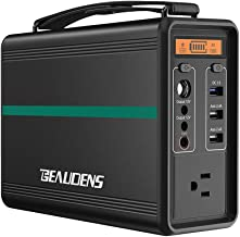 BEAUDENS Portable Power Station, Lithium Iron Phosphate Battery LiFePO4, 2000 Cycles, 10 Years Life, 166Wh 110V/150W AC Outlet, Solar Generator for Outdoors Camping Travel Fishing Emergency Backup
