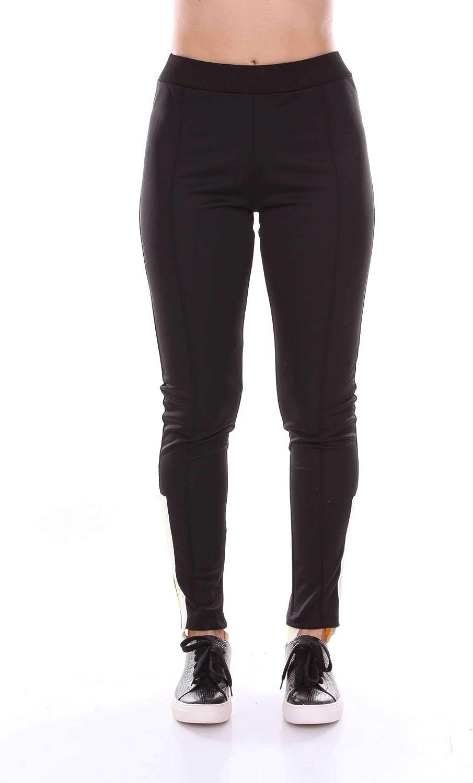 Akep Women's KE726BLACK Black Polyester Pants