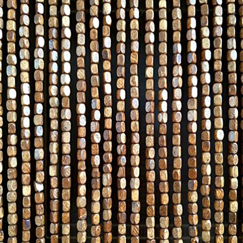 CDDQ Walnut Wood Beaded Curtains for Doorways,Closet Door String Bead Curtain for Room Dividers Entrance Decoration Handmade,Farmhouse Style,80180cm,80200cm,80220cm