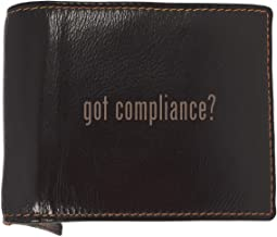 got compliance? - Soft Cowhide Genuine Engraved Bifold Leather Wallet
