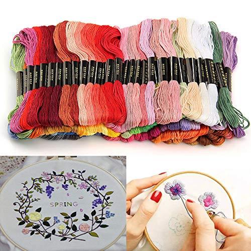 刺繍糸クロスステッチ刺繍セットカラーが豊富できれい刺しゅう糸初心者高質量多色鮮やかな縫い糸セット色鮮やか光沢きれいミサンガフロス(100束x100色)